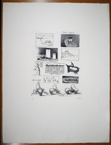 Ideas For Sculpture In Landscape by Henry Moore