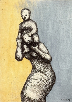 Mother & Child Viii by Henry Moore