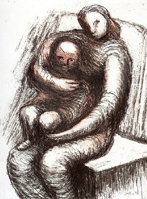 Mother & Child Xi by Henry Moore at The White House Gallery