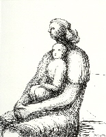 Mother & Child Xxvii by Henry Moore at The White House Gallery