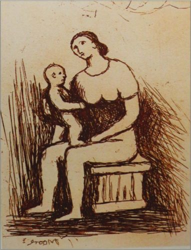 Mother And Child I by Henry Moore