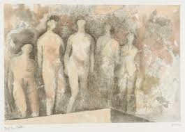 Standing Nudes by Henry Moore at