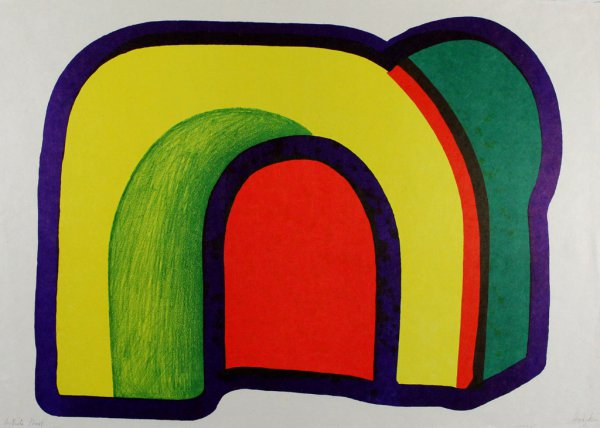 Composition With Red by Howard Hodgkin