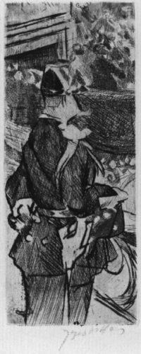 Bal Du Moulin Rouge: Le Garde by Jacques Villon at