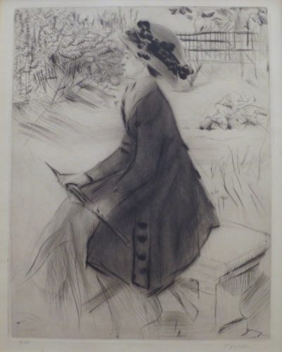Le Banc De Pierre by Jacques Villon at