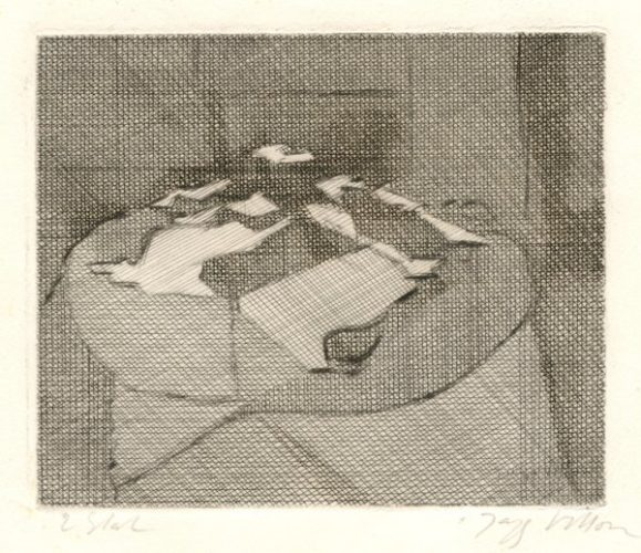 Papiers Sur Une Table by Jacques Villon at
