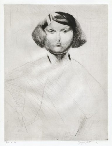 Renée De Face by Jacques Villon at