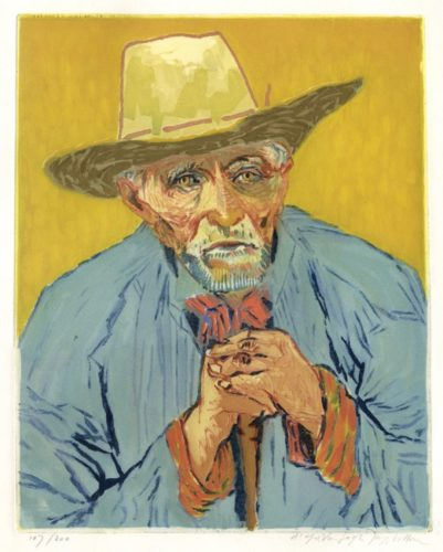 Van Gogh, Le Paysan by Jacques Villon at
