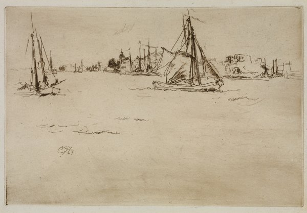 Dordrecht by James Abbott McNeill Whistler