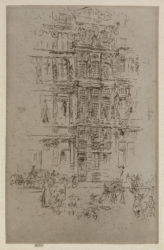 Palaces, Brussels by James Abbott McNeill Whistler at