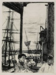 Rotherhithe by James Abbott McNeill Whistler at