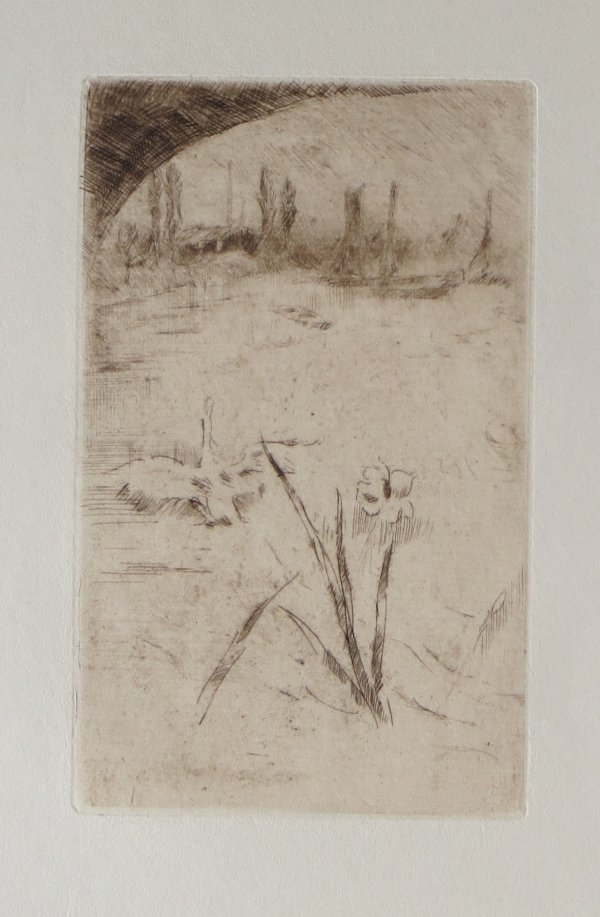Sketch After Cecil Lawson's 'swan And Iris' by James Abbott McNeill Whistler