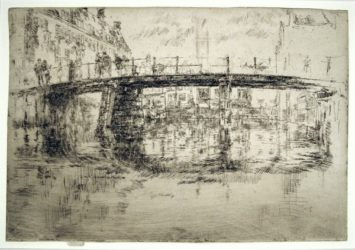 The Bridge, Amsterdam – First State by James Abbott McNeill Whistler at Harris Schrank Fine Prints (IFPDA)