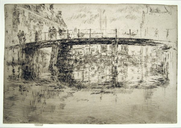 The Bridge, Amsterdam – First State by James Abbott McNeill Whistler