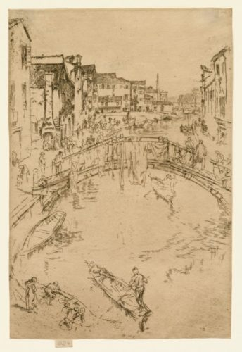 The Bridge, Santa Maria by James Abbott McNeill Whistler at Harris Schrank Fine Prints (IFPDA)