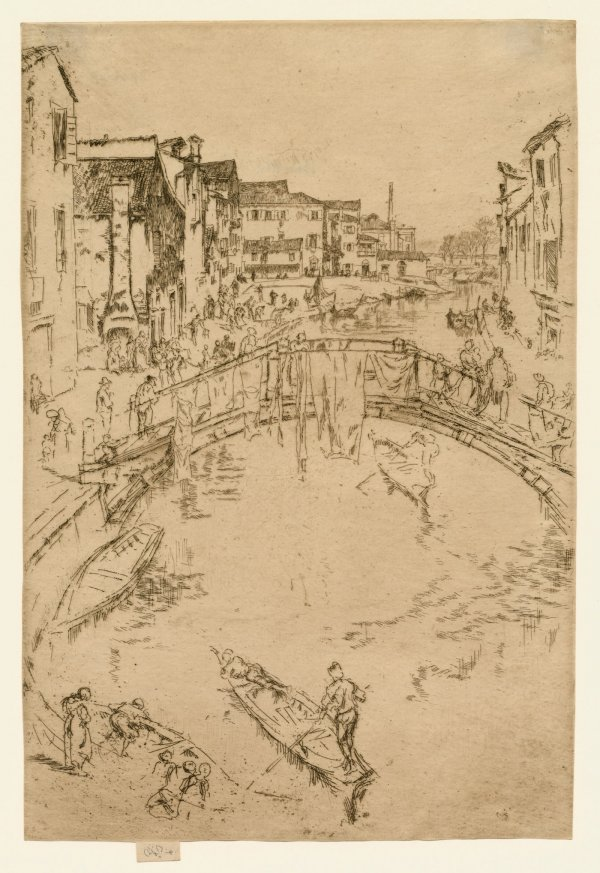 The Bridge, Santa Maria by James Abbott McNeill Whistler