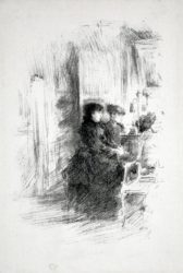 The Duet by James Abbott McNeill Whistler at Harris Schrank Fine Prints (IFPDA)