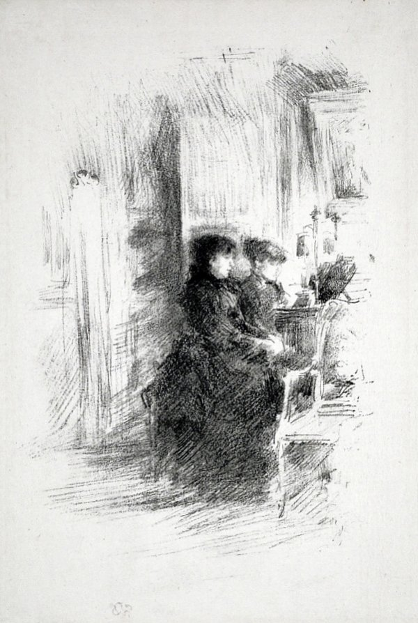 The Duet by James Abbott McNeill Whistler