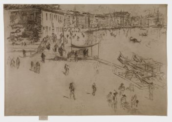 The Riva by James Abbott McNeill Whistler at