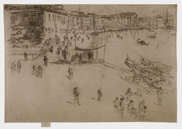 The Riva by James Abbott McNeill Whistler