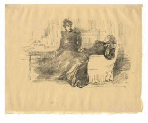 The Sisters by James Abbott McNeill Whistler at Harris Schrank Fine Prints (IFPDA)