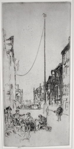 The Venetian Mast by James Abbott McNeill Whistler