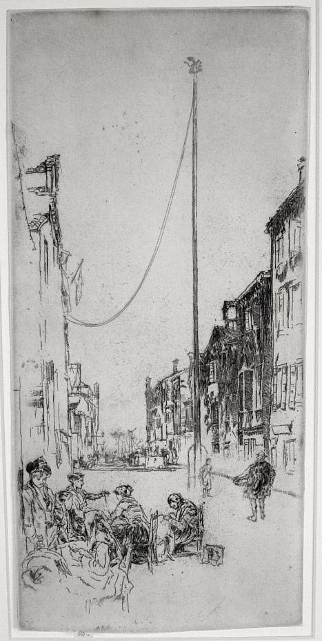 The Venetian Mast by James Abbott McNeill Whistler
