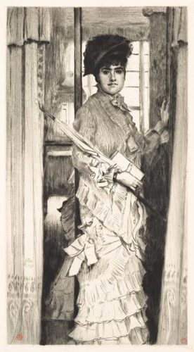 Portrait De Miss L . . . Ou Il Faut Qu'une Porte Soit Ouverte (portrait Of Miss L . . . Or A Door Mu... by James Tissot