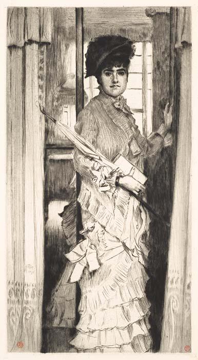 Portrait De Miss L . . . Ou Il Faut Qu'une Porte Soit Ouverte (portrait Of Miss L . . . Or A Door Mu... by James Tissot