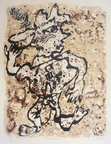 Fougere Au Chapeau by Jean Dubuffet at Marc Chabot Fine Arts