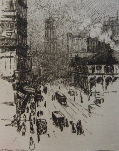 Broadway, New York by Jean-Emile Laboureur at