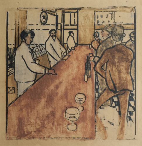 Le Bar En Pennsylvanie by Jean-Emile Laboureur at