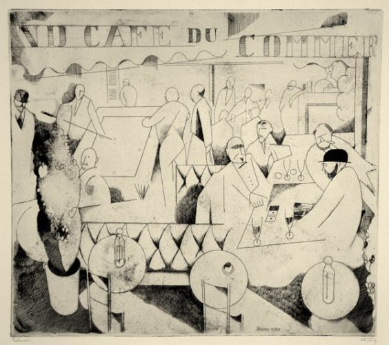 Le Cafe Du Commerce by Jean-Emile Laboureur at Jean-Emile Laboureur