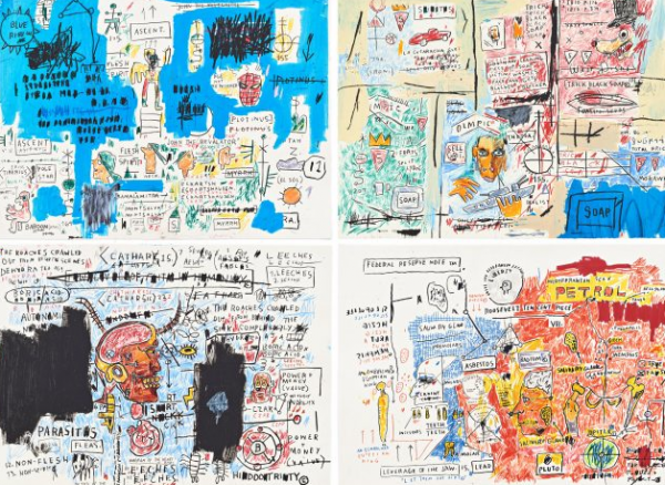 Complete Portfolio Of Four Works by Jean-Michel Basquiat at