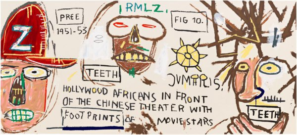 Hollywood Africans In Front Of The Chinese Theater by Jean-Michel Basquiat at