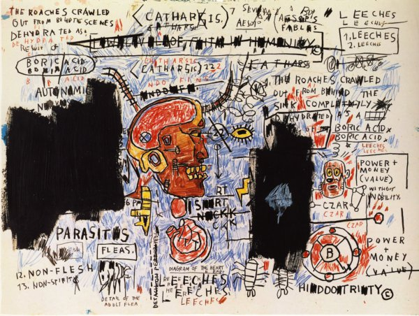 Leeches by Jean-Michel Basquiat at