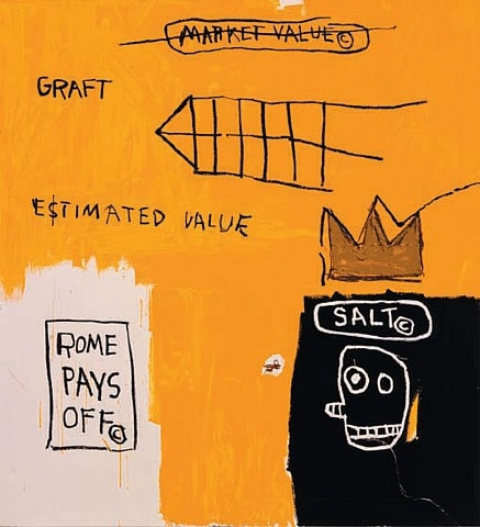 Rome Pays Off by Jean-Michel Basquiat at