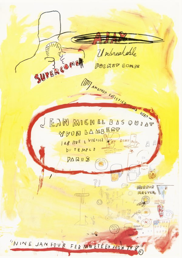 Supercomb by Jean-Michel Basquiat