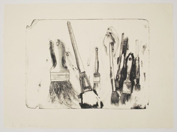 Brushes Drawn On Stone #2 by Jim Dine at