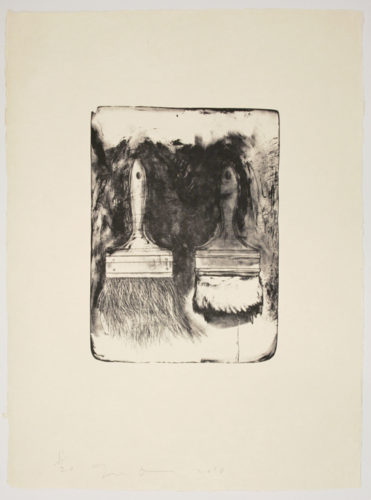 Brushes Drawn On Stone #3 by Jim Dine at
