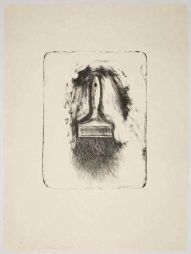 Brushes Drawn On Stone #1 by Jim Dine