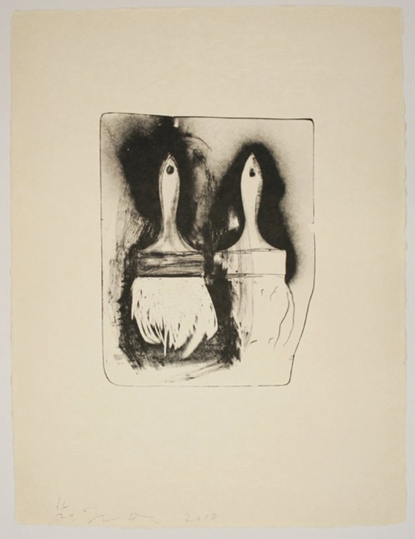 Brushes Drawn On Stone #3 by Jim Dine