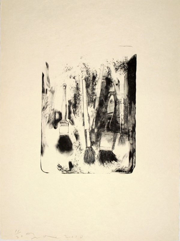 Brushes Drawn On Stone #4 by Jim Dine