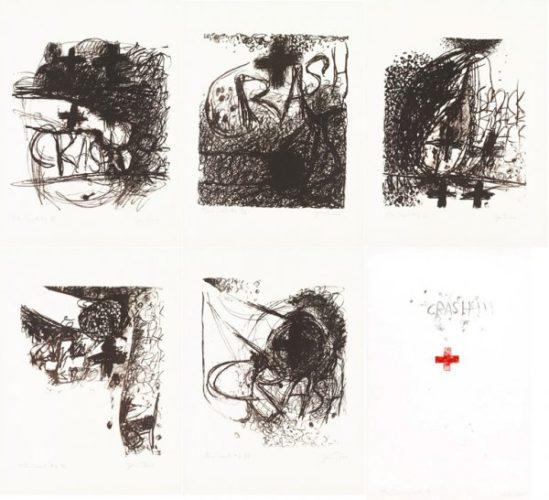 Car Crash I-v And End Of The Crash by Jim Dine