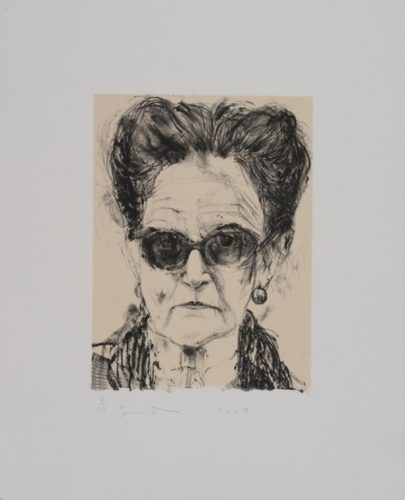 Madame And Her Sunglasses by Jim Dine