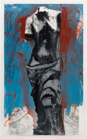Red, White & Blue Venus For Mondale by Jim Dine