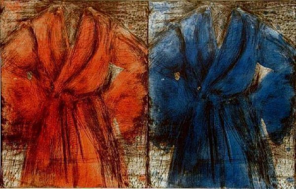 Red And Blue Robe by Jim Dine