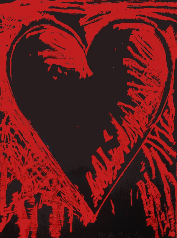 The Black And Red Heart by Jim Dine