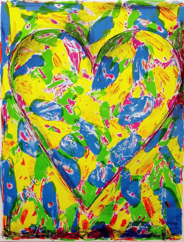 The Blue Heart by Jim Dine at