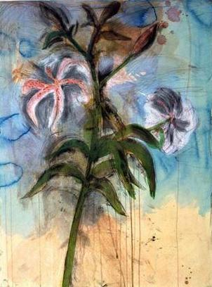 The Sky And Lilies by Jim Dine